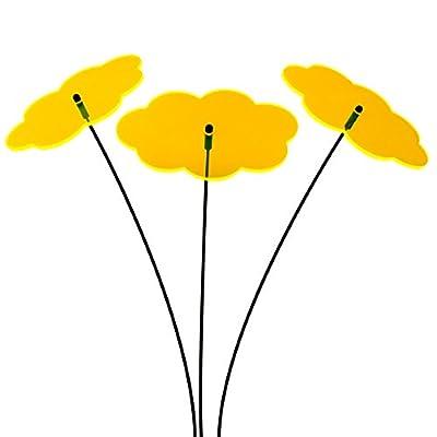 """SUNPLAY Sonnenfänger """"Wolken"""" in GELB, 3 Stück zu je 10 cm Durchmesser im Set + 35 cm Schwingstäbe von SUNPLAY - Du und dein Garten"""