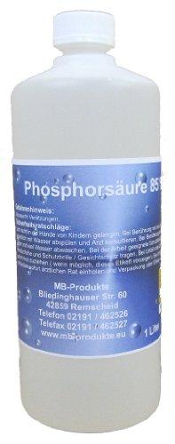 1 Ltr. Phosphorsäure 85% H3P04 Kalklöser Rostumwandler Urinsteinlöser Rostlöser