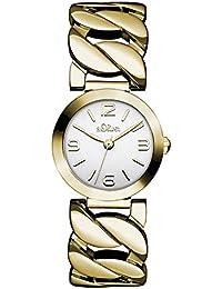 s.Oliver Damen-Armbanduhr Analog Quarz Edelstahl SO-3092-MQ