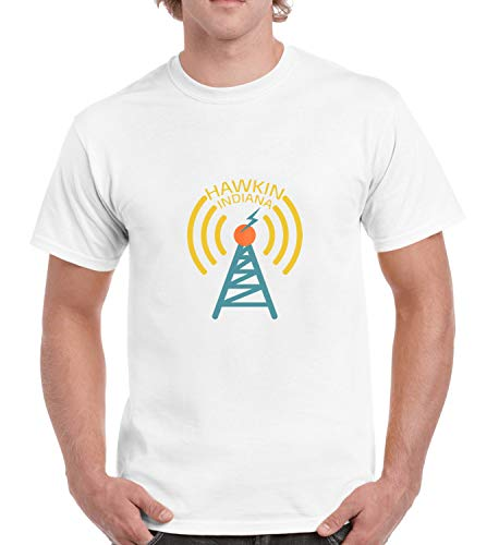 Hawkins Indiana Radio Club Antena_R2268 for Für Männer Herren Man Shirt T-Shirt Tshirt T Shirt Gift for Him Her Lustige Present - M White Men's Radio Antena M