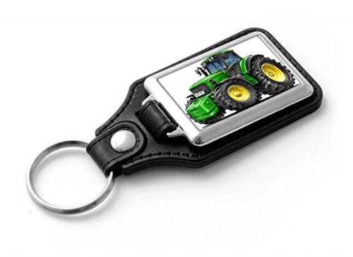 wickedartz-cartoon-car-john-deere-tractor-green-classic-style-key-ring