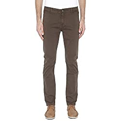 Pepe Mens 4 Pocket Solid Chinos_Olive_34_203657229_9465