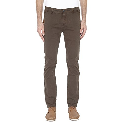 Pepe Mens 4 Pocket Solid Chinos_Olive_30_203657229_9465