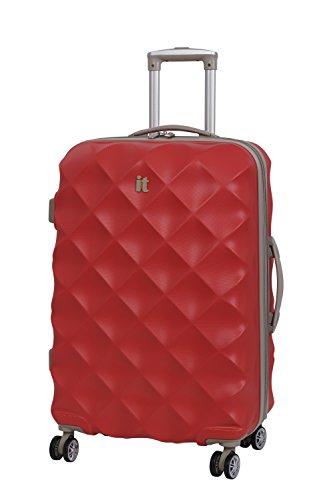 it luggage Debossed Diamond Koffer, 70 cm, 104 liters, Rot (Aurora Red)