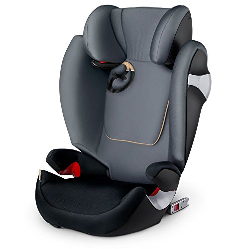 Cybex Solution M-Fix, Silla de coche grupo 2/3 Isofix, Graphite Black