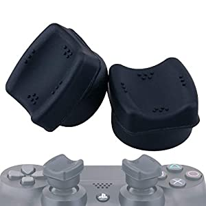 YoRHa Thumb FIT Joystick-Kappene Thumbstick Griffe Thumb Grip Aufsätze(Schwarz) 2 Einheiten für Playstation 4 (PS4…