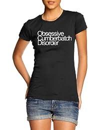 Obsessive Cumberbatch Disorder, Benedict Cumberbatch Inspired Womens Printed T-Shirt