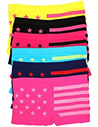 Sakkas Culottes Boy Short Femmes Stretch Sans Couture - Lot de 6 Couleurs Assorties