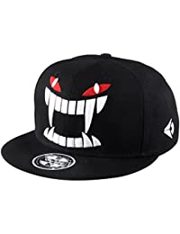 Aivtalk - Negra Gorra de Béisbol Hip Hop Sombrero Plano con Bordado  Ajustable Snapback Accesorio para 4964041106c