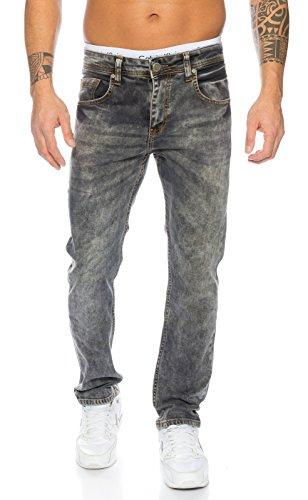 Rock Creek Herren Jeans Grau LL-310 [W34 L36]