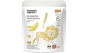Löwenzahn Organics Demeter Baby Brei Dinkel-Banane 6+ Monate