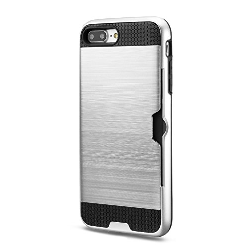 iPhone 7 Plus Cover technext020 Paraurti duro, Slim carta di credito coperchio Argento Argento