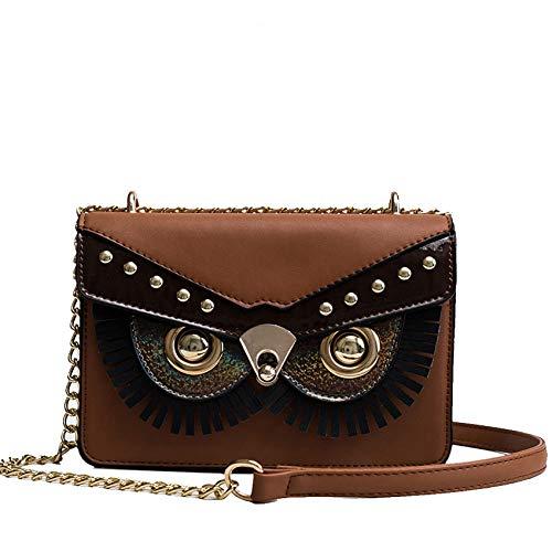 e Frauen Eule Umhängetasche Geldbörse Handtaschen Frauen Messenger Bags Für Mädchen Designer Kette Crossbody Handytasche Weibliche ()