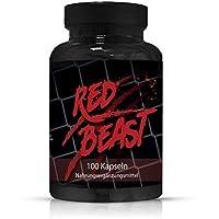 Red Beast Testosteron Booster By VargPower   100 Kapseln   Unterstützt Muskelaufbau Mehr Energie Leistung Besserer Fokus Libido   Extreme   Wirkt Stark Anabol   Ersatz Für Anabolika Steroide