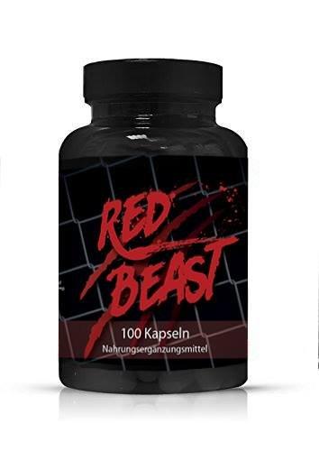 RED BEAST - Testosteron Booster - Muskelaufbau - Mehr Energie - Mehr Leistung - Besserer Fokus - Jetzt mit 100 Kaspeln EXTREMER MUSKELAUFBAU - DER ERSATZ FÜR ANABOLIKA / STREOIDE - RED BEAST WIRKT STARK ANABOL FÜR DEN MANN. UNTERSTÜZT DIE LIBIDO UND DAS IMMUNSYSTEM - FETTABBAU UND MUSKELAUFBAU - ANABOL BOOSTER