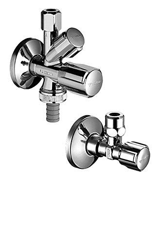 SCHELL 108620699 Armaturenanschluss-Set , Sanitäranschlussset COMFORT , Zum kalt- und warmwasserseitigem Anschluss von Einlocharmaturen + Geräteanschluss , Messing, Chrom - Gas-wasser-heizung-teile