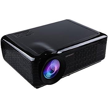 DbPower LED-66 Supporto HD Proiettore con 854*540, 2000 Lumen, 1*HDMI and 2*USB Videoproiettore(Nero)