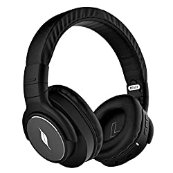 Leaf Beast Wireless Bluetooth Headphones with Mic, Deep Bass and 30 Hour Battery Life (Carbon Black)