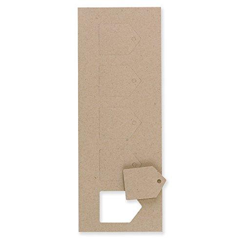 Fine Impressions RFTLGCIRW Geschenkanhänger, rund, 10 cm Durchmesser, Weiß, 250 Stück Mini Favor Kraft