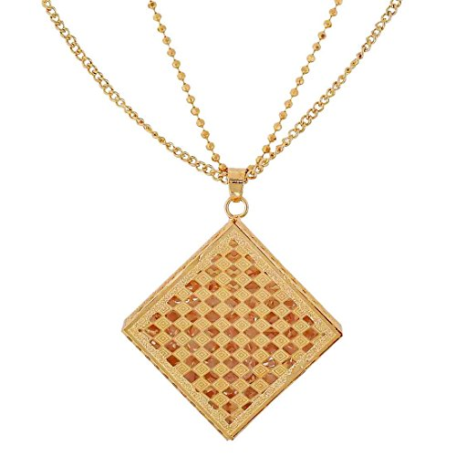 Maayra American Diamond Pendant Gold Cocktail Party Jewellery - Sexy, Rhodium Plated, Brass based  available at amazon for Rs.370