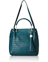 Alessia74 Women's Handbag With Pouch (Blue) (Set Of 2) (PBG510G)