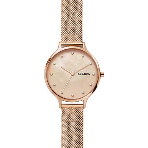 Skagen Damen Analog Quarz Uhr mit Edelstahl Armband SKW2773