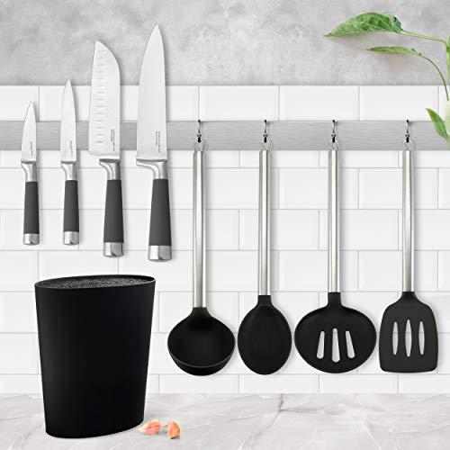 Set de Tacoma universal lavable, gran capacidad + Juego de 4 cuchillos San Ignacio Premium: Chef, Santoku...