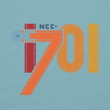 NERDO - NCC-1701 - Damen T-Shirt Hellblau