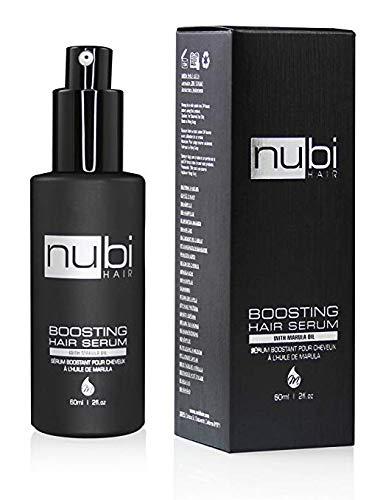 Nubi Boosting Hair Serum with Marula Oil, Vitamin E and Aloe Vera, 2 Fl. Oz./ 60 Ml -