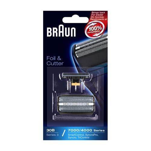 Braun - Combi-pack 30B - Láminas de recambio + portacuchillas para afeitadoras Anciens Series 3/Syncro Pro/Syncro/SmartControl3/Tricontrol