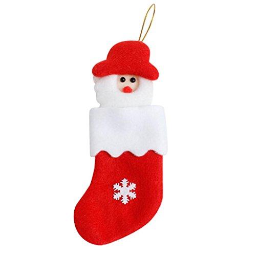 Upxiang Weihnachtsbaum-Verzierungen, Dekoration-Essgeschirr-Abdeckung, Weihnachtsgabel-Tafelbeutel, Süßigkeits-Beutel Hung auf Chritmas Baum, Weihnachten hängen Geschenk (A) (Leinen Baby Gap)
