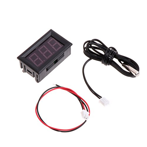 Cuigu 50/~ 110//°C Digital LED Term/ómetro DC 5/ /12/V Temperatura de Coche Panel Metro Gauge