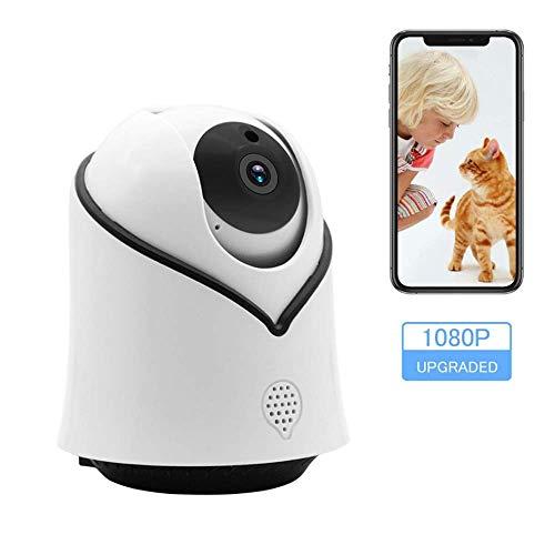 WAWZNN 1080 HD Überwachungskamera Wireless, WiFi Sicherheitskamera mit Zwei Wege Audio und Nachtsicht, Cloud Storage-Monitor Geeignet für Haustiere, Kinder, ältere Menschen