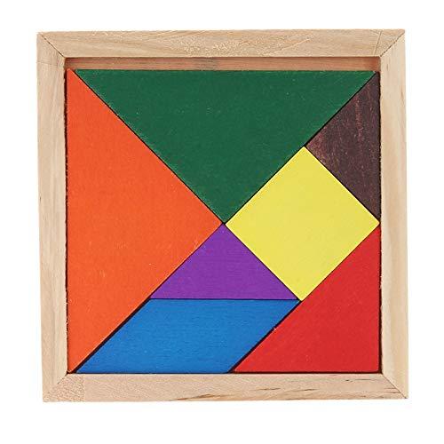 JINYANG Dekoration Holz Dreidimensionale Puzzle Board DIY Kinder Baby Pädagogisches Holz Spielzeug, Gelegentliche Farbe Lieferung