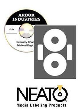 Neato CD/DVD economatte Etiketten-50Blatt-Macht 100Etiketten-Online Design Label Studio enthalten-selbstklebend Speziell für CDs & DVDs