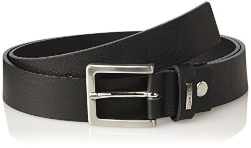 Calvin Klein Herren Gürtel Andr3w Adj Smooth Belt Schwarz (Black 001)