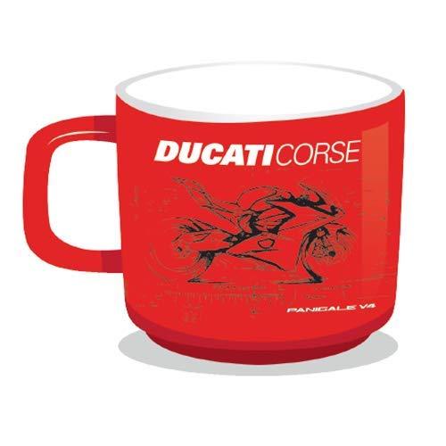 Whybee 2019 Ducati Corse Racing MotoGP Tasse Kaffee Tee Trinkbecher Offizieller Merchandise