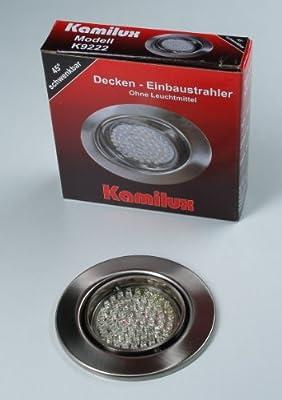 4 x LED Einbauleuchte Einbauspot edelstahl-gebürstet 60er LED-Spot Tom 230V Warmweiss von Kamilux GmbH