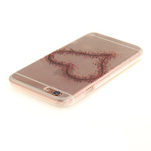 """Apple iPhone 6 4.7"""" hülle,MCHSHOP Ultra Slim Skin Gel TPU hülle weiche Silicone Silikon Schutzhülle Case für Apple iPhone 6 4.7"""" - 1 Kostenlose Stylus (Halbe weiße Blüten) Liebeskranz"""