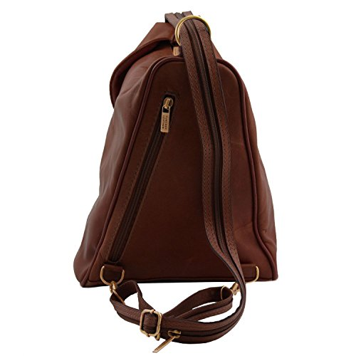 81409624 - TUSCANY LEATHER: DELHI - CITY RUCKSACK aus LEDER, Ledertasche Braun