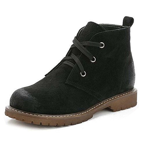 Solshine , chaussures compensées femme Schwarz2 (mit Fell)