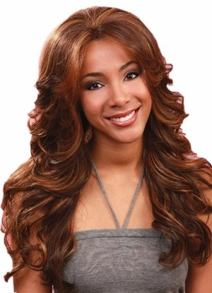 Lace Front Perücke Pearl (BOBBI BOSS Lace Front Wig - MLF14 PEARL - Color #4 - Light Brown by BOBBI BOSS)