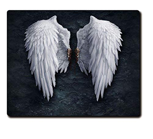 Gift Angel Wings On The Rock Wall Printed Heavy Weaving Anti-slip Rubber Pad Office Mouse Pad Coaster Party Favor A Heavy Base Rocks