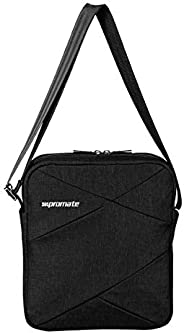 Promate Laptop Messenger Bag, Lightweight Water Resistance Up to 9.7 Inch with Tablet Pocket, Adjustable Strap