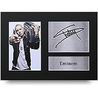 HWC Trading Eminem Geschenke Unterzeichneten A4 Gedrucktes Autogramm Slim Shady Druck-Foto-Bilderanzeige