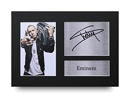 Gedrucktes Eminem-Autogramm, A4, Slim Shady Foto,tolle Geschenkidee