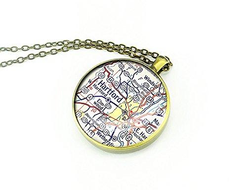 1958-de-la-vendimia-collar-de-mapa-hartford-connecticut-joyas-mejor-regalo-de-navidad
