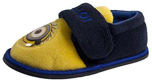 Jungen Kinder Despicable Me Minions Pantoffeln Schuhe Größe UK 4-2.5 Minion Eye - Bello