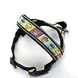JohnJohnsen Haustier-Hundegeschirr Hundevorder Weste Haustier Nylon Nette Muster Weste Hunde Chest Harness ideal für die tägliche Walking Laufen (Bunte)