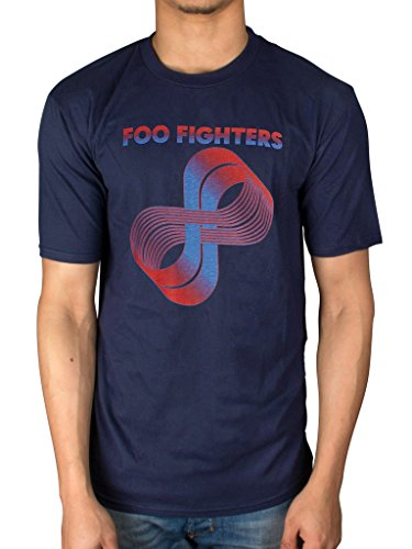 T shirt con logo dei foo fighters loops (blu) - small